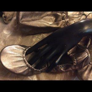 Ballet Slipper Shoes - BUNDLE ME! Bronze Ballet Slippers  Carry Bag 7